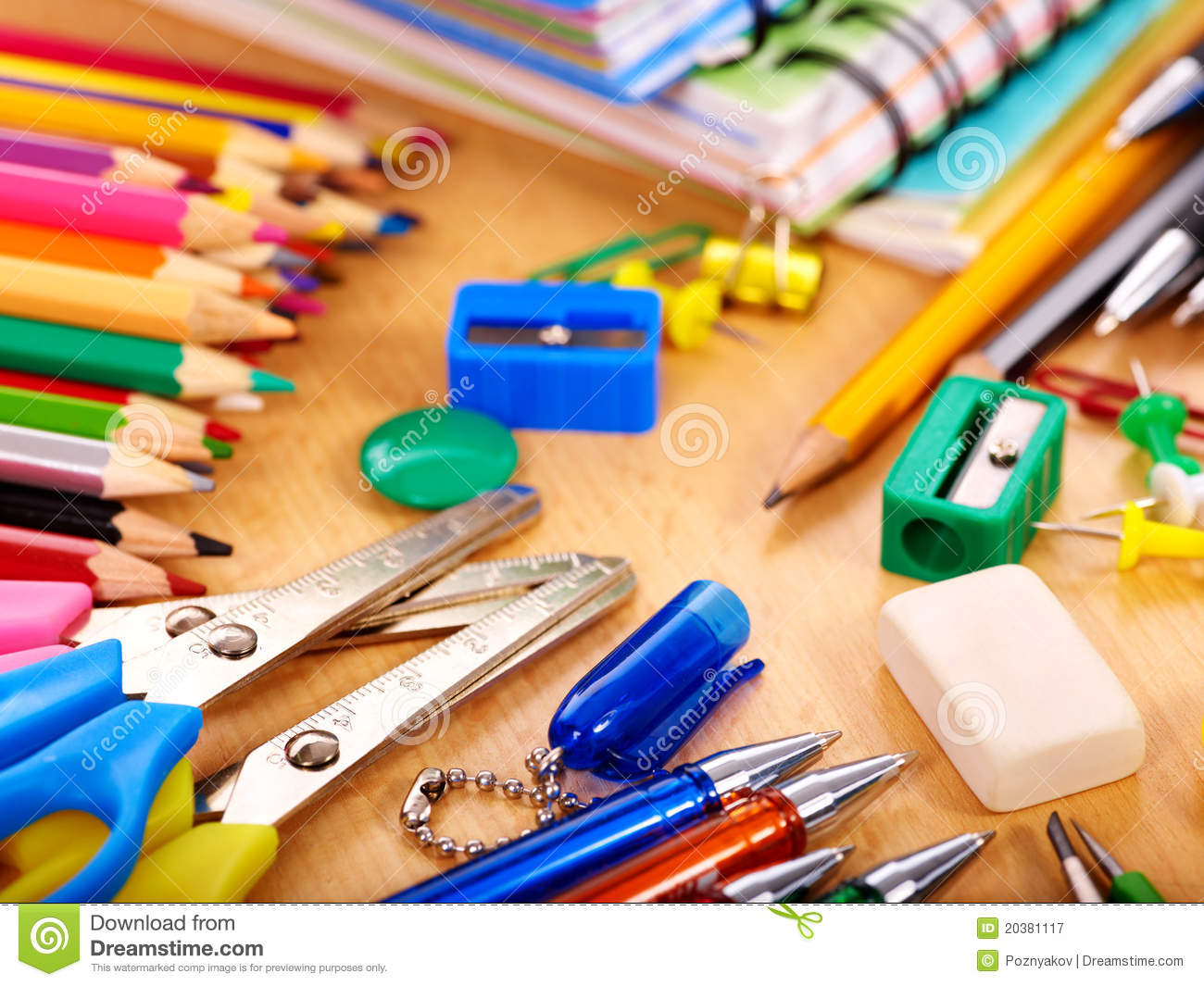 Close Up Of School Supplies Stock Image