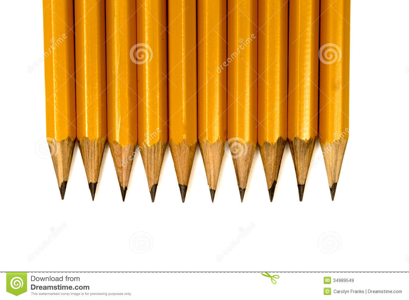 Close Up Shot Of Sharpened Pencils Stock Image