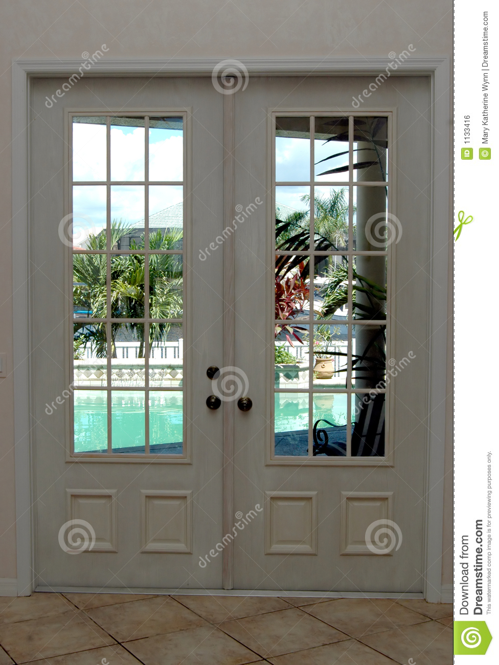 Closed French Doors Royalty Free Stock Image Image 1133416