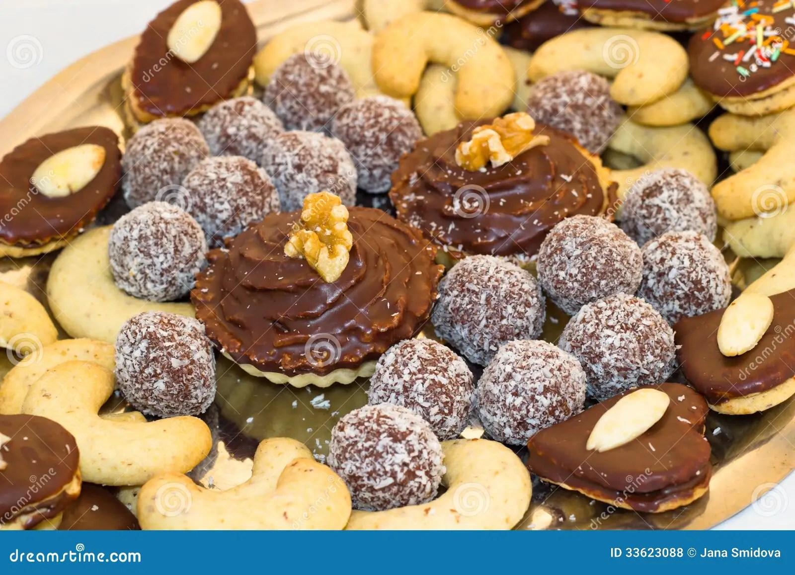 Closeup Of Christmas Cookies Stock Photo