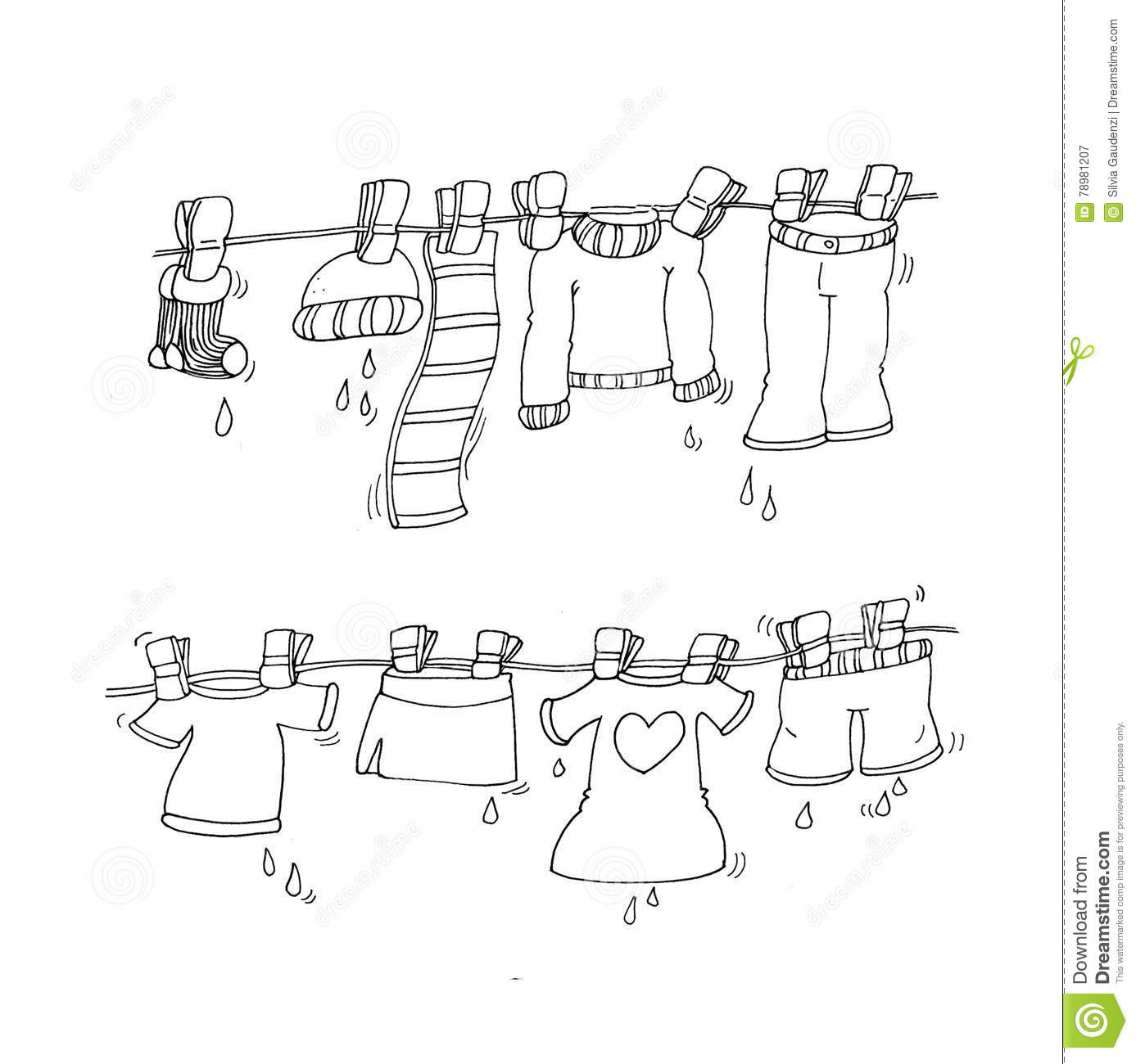 Clothes Hanging Clothes Hanging With Clothespins Chine