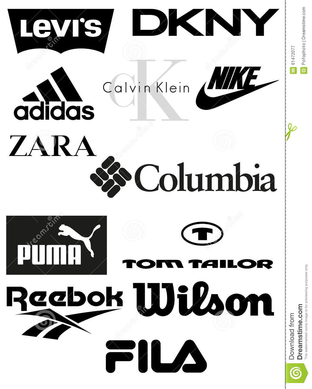 Clothing Brands Vector Editorial Photography