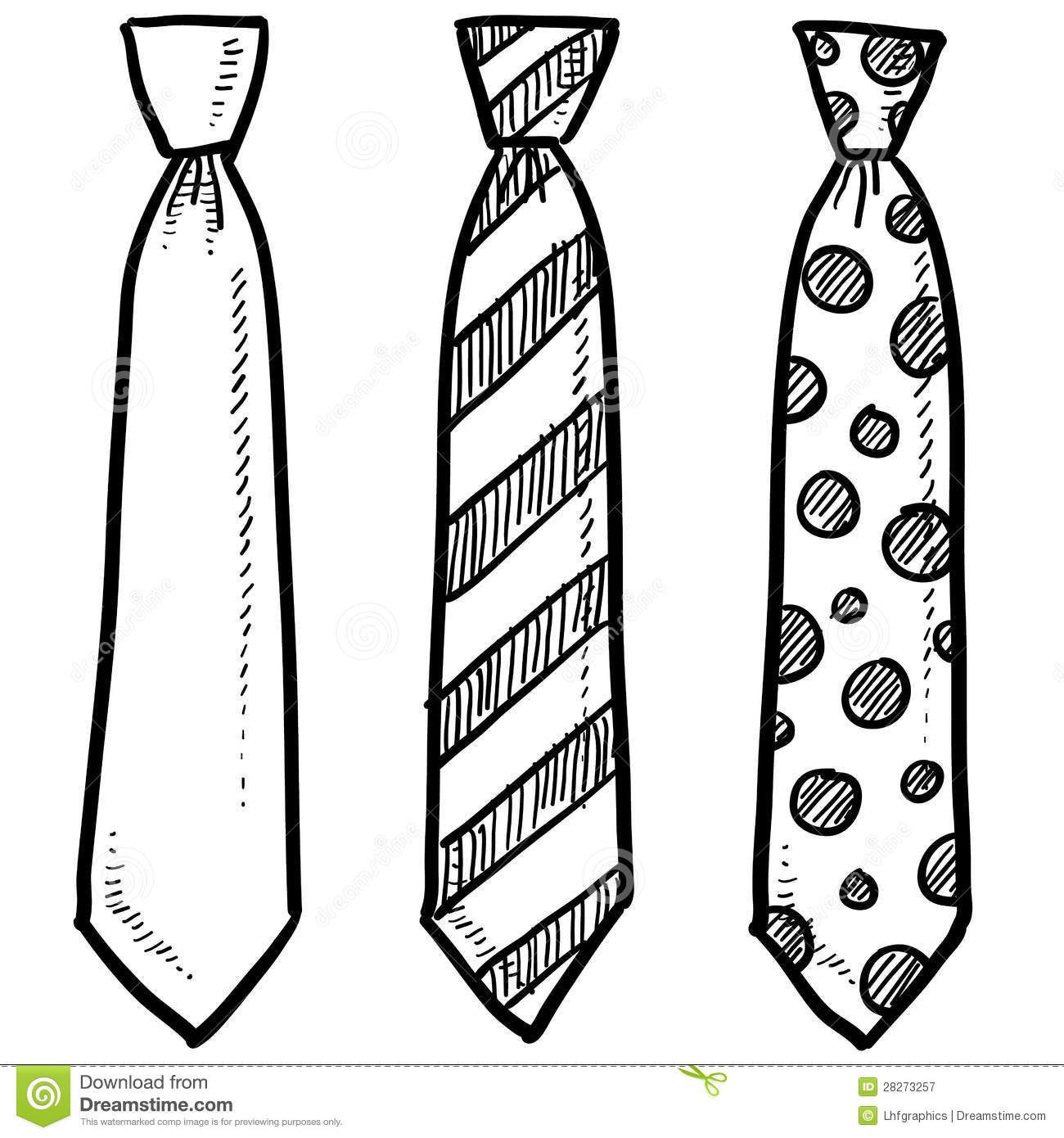 Clothing Necktie Sketch Royalty Free Stock Photography