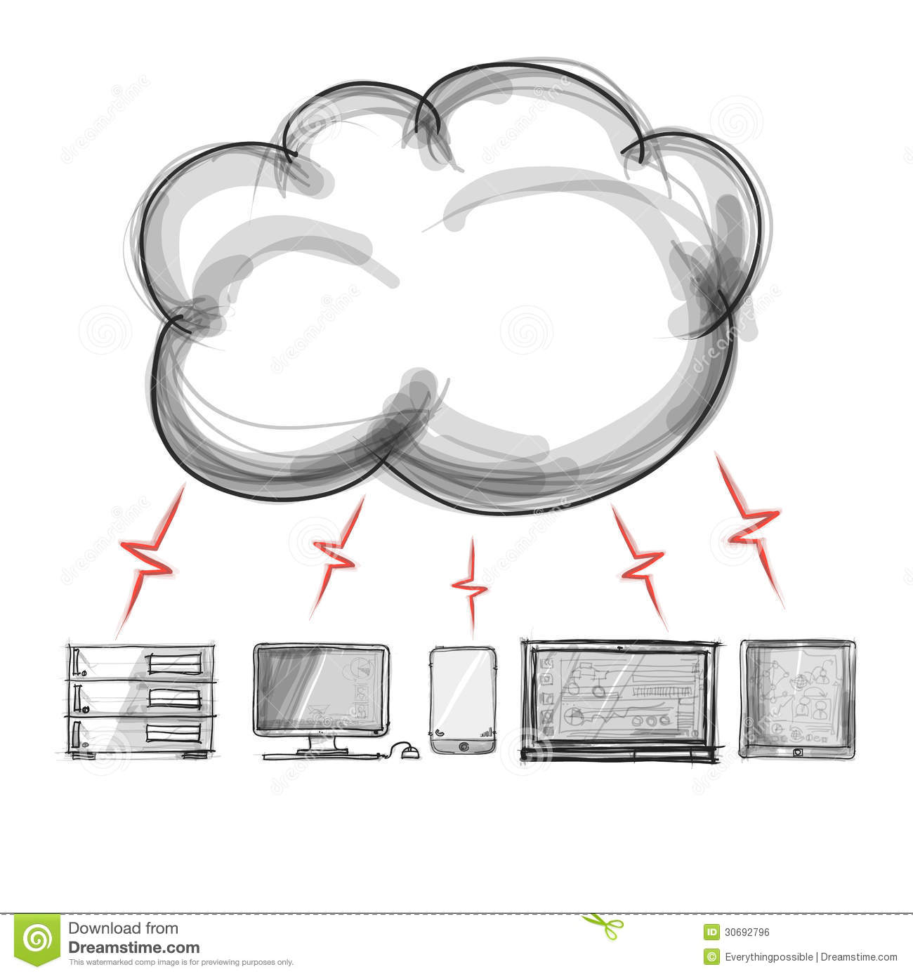 A Cloud Computing Diagram Royalty Free Stock Image