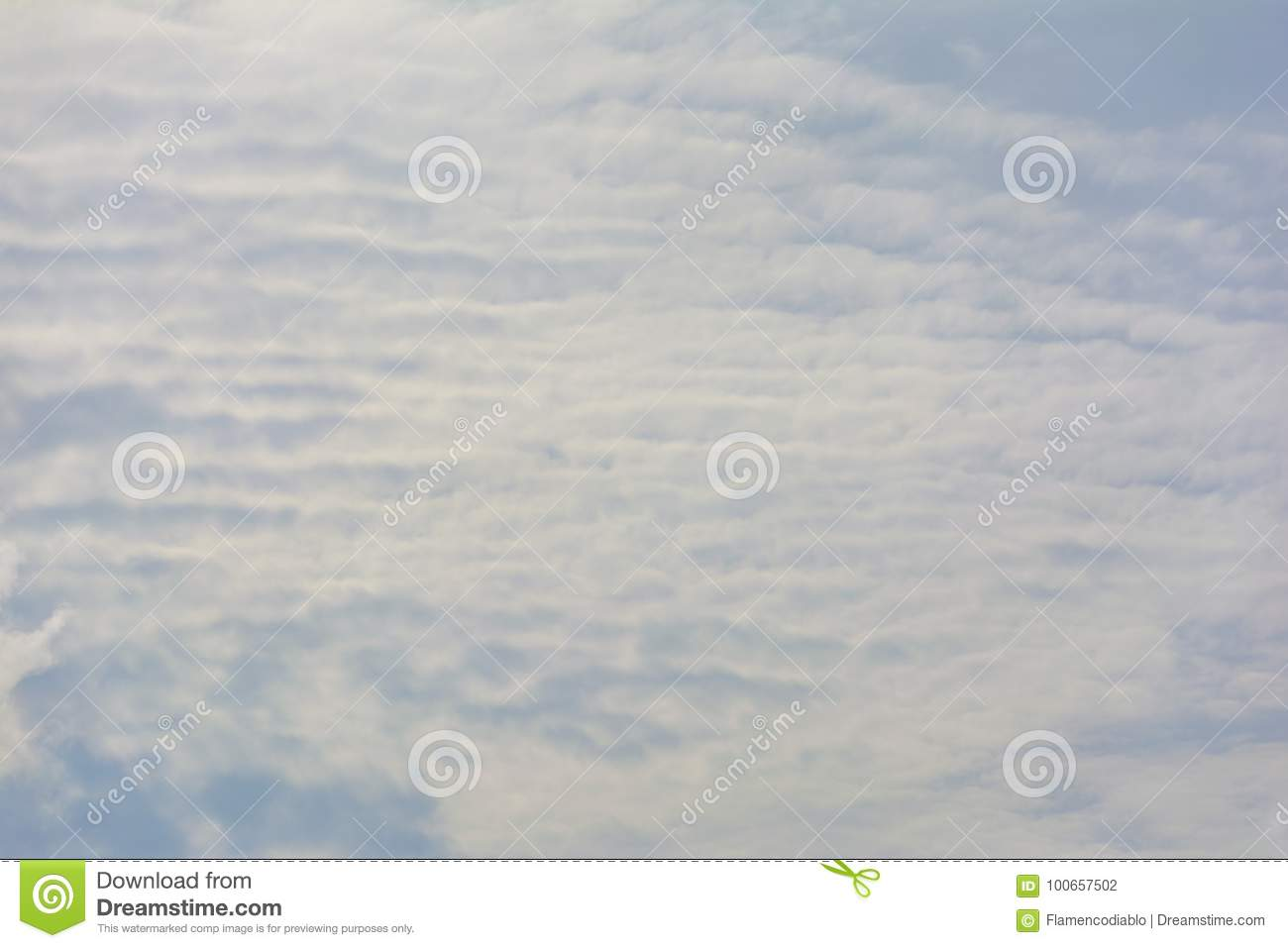 Clouds On Blue Sky Day Time Composition Stock Photo