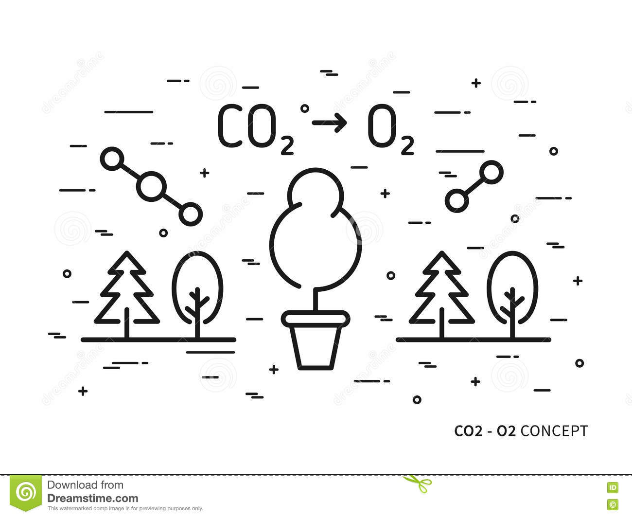 Ozone And Oxygen Atom And Molecule Vector Illustration