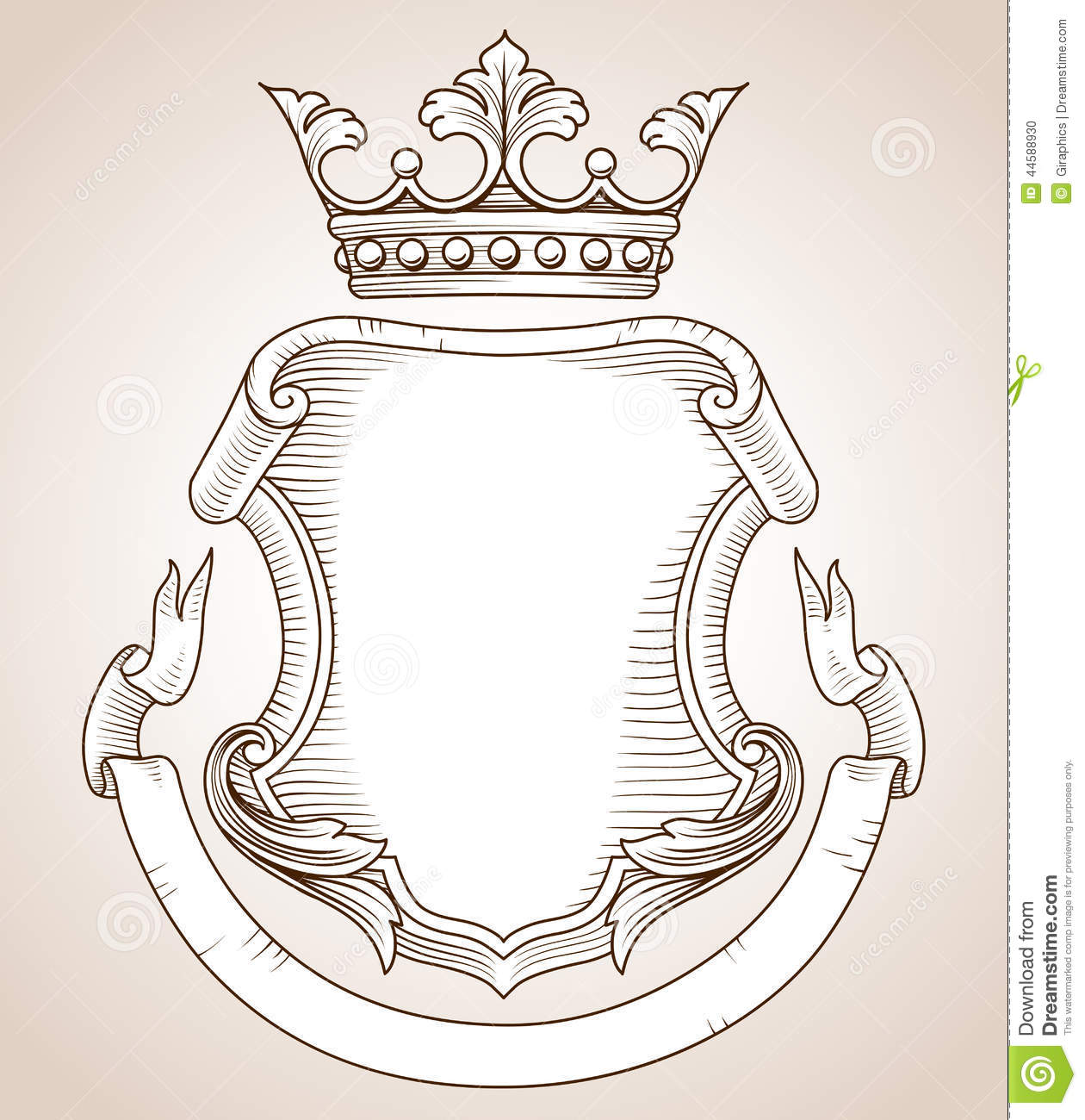 Coat Of Arms Stock Vector Illustration Of Floral Scroll