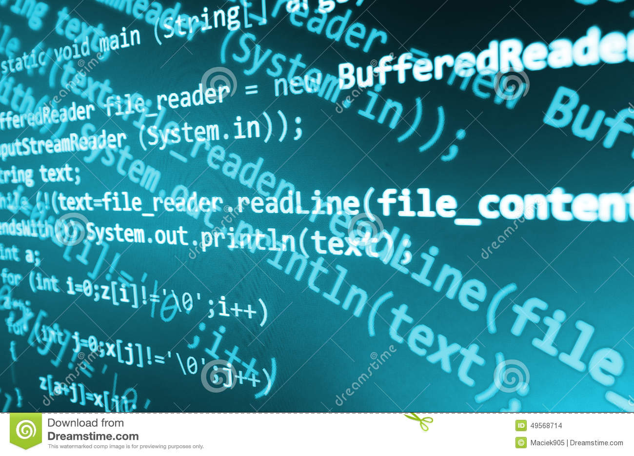 Coding Programming Source Code Screen Colorful Abstract