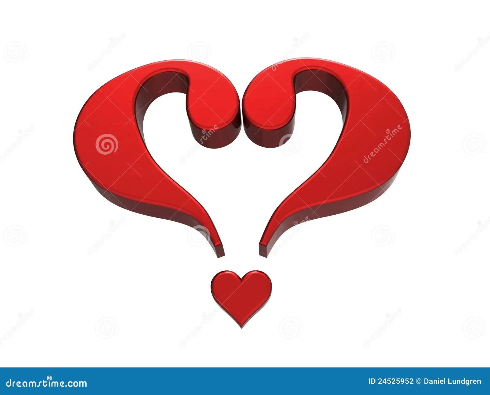 Coeur 1 De Point Dinterrogation Photographie Stock