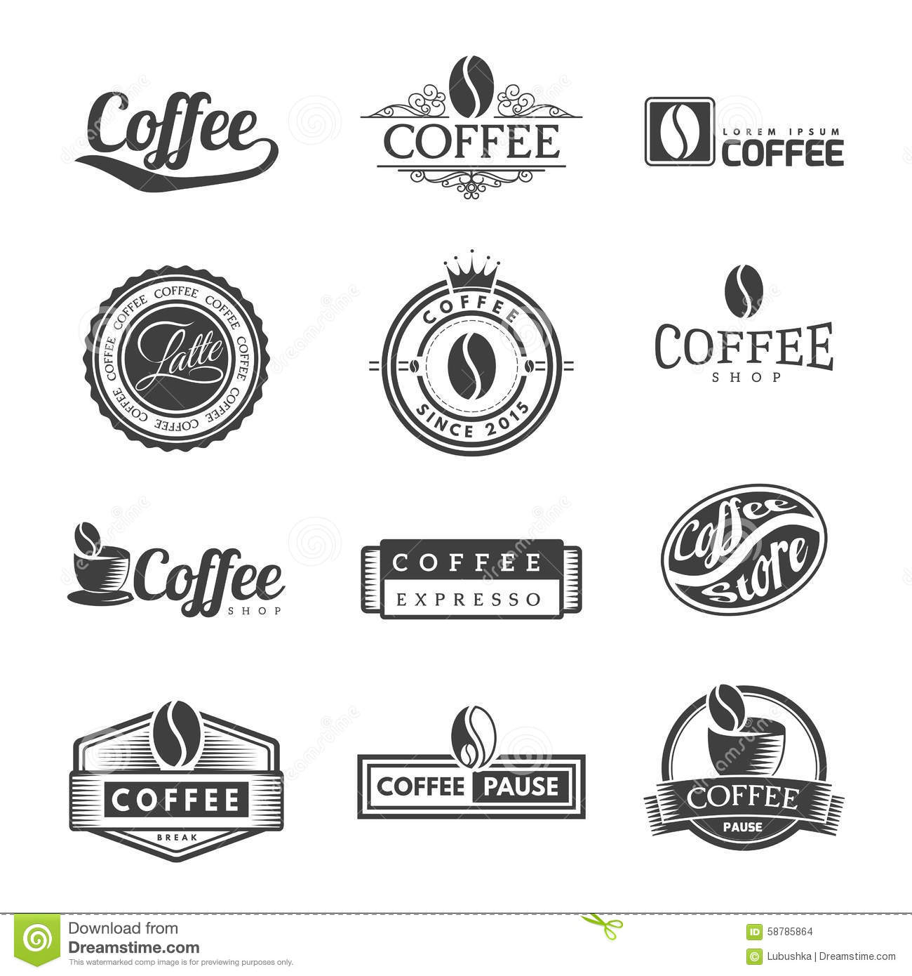 Latte Stock Vector Images