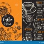 Coffee Restaurant Cafe Menu Template Design Stock Vector Illustration Of Chef Americano 73292612