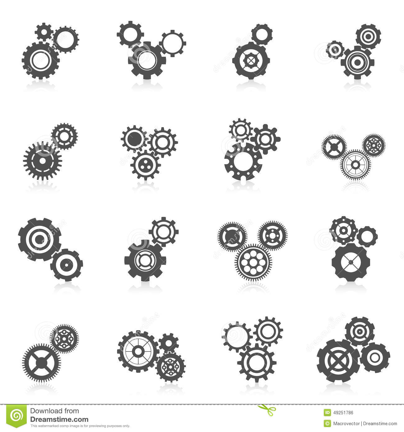 Cog Wheel Icon Stock Vector