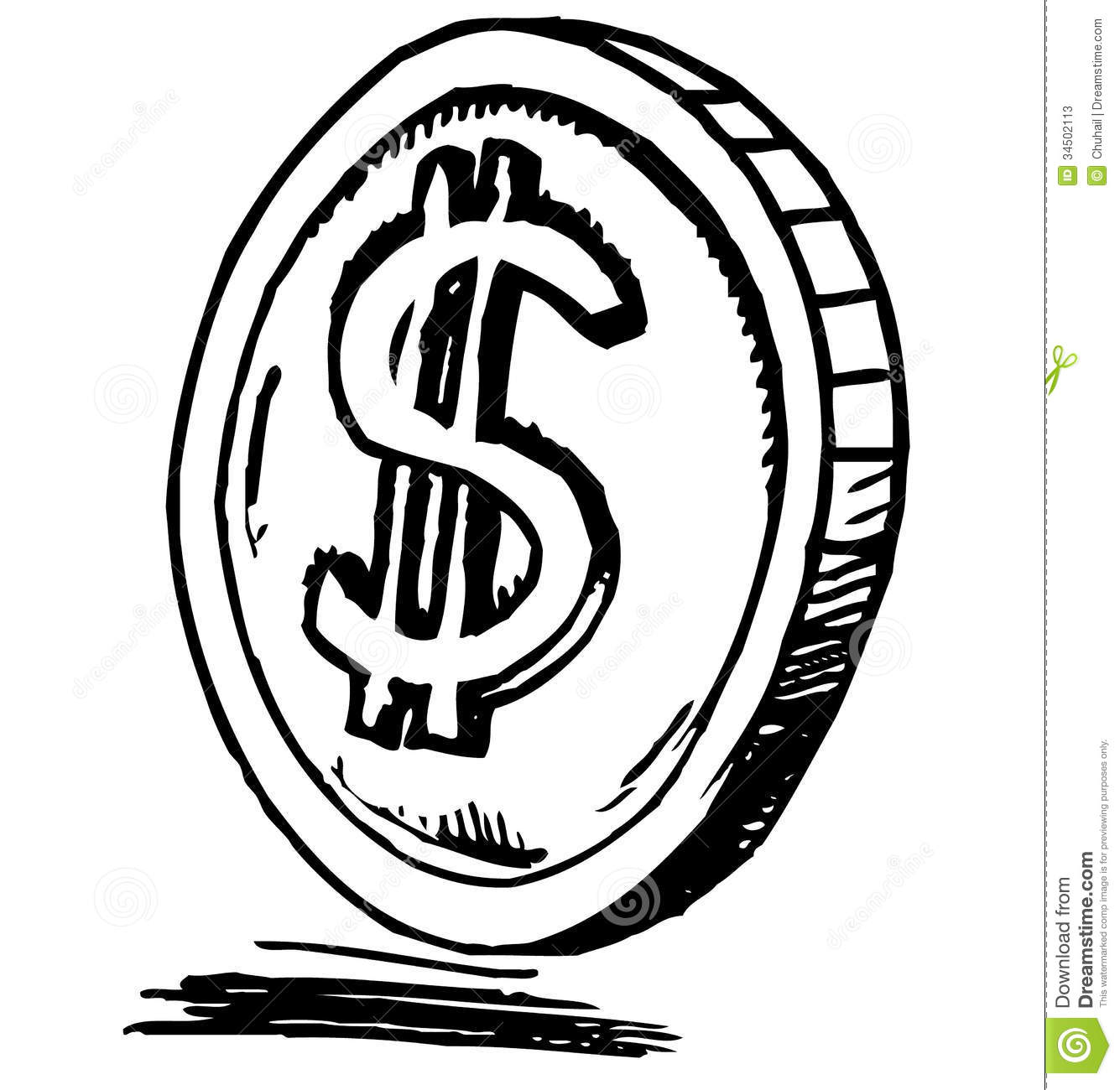 Coin Icon Stock Vector Illustration Of Financial
