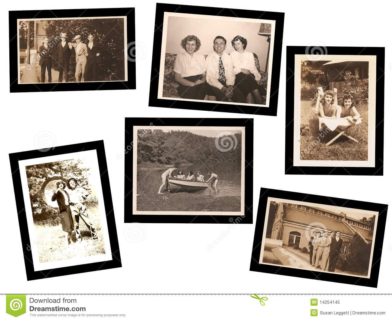 Collage Of Old Photos Stock Image Image Of Family