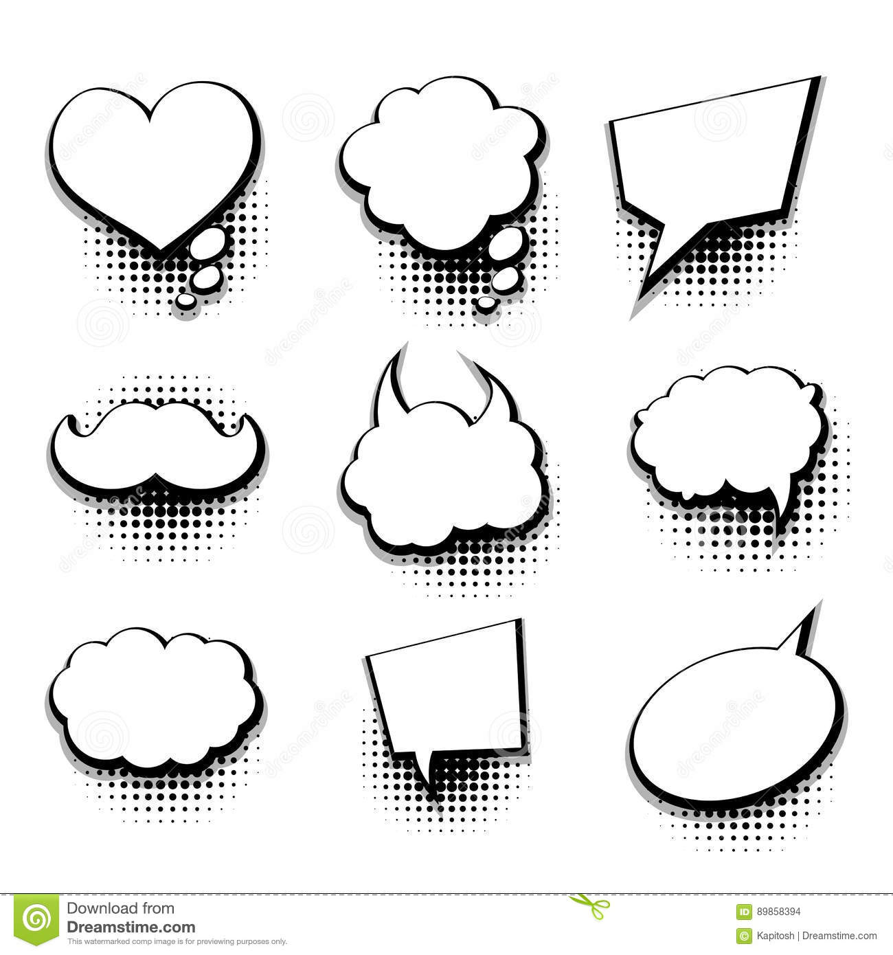 Comic Text Template Vector Illustration