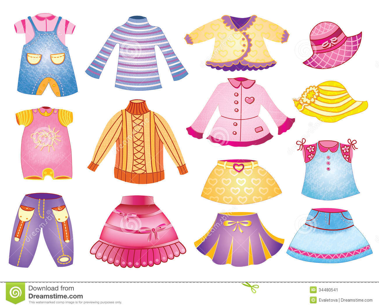 Collection Of Children S Clothing Stock Vector
