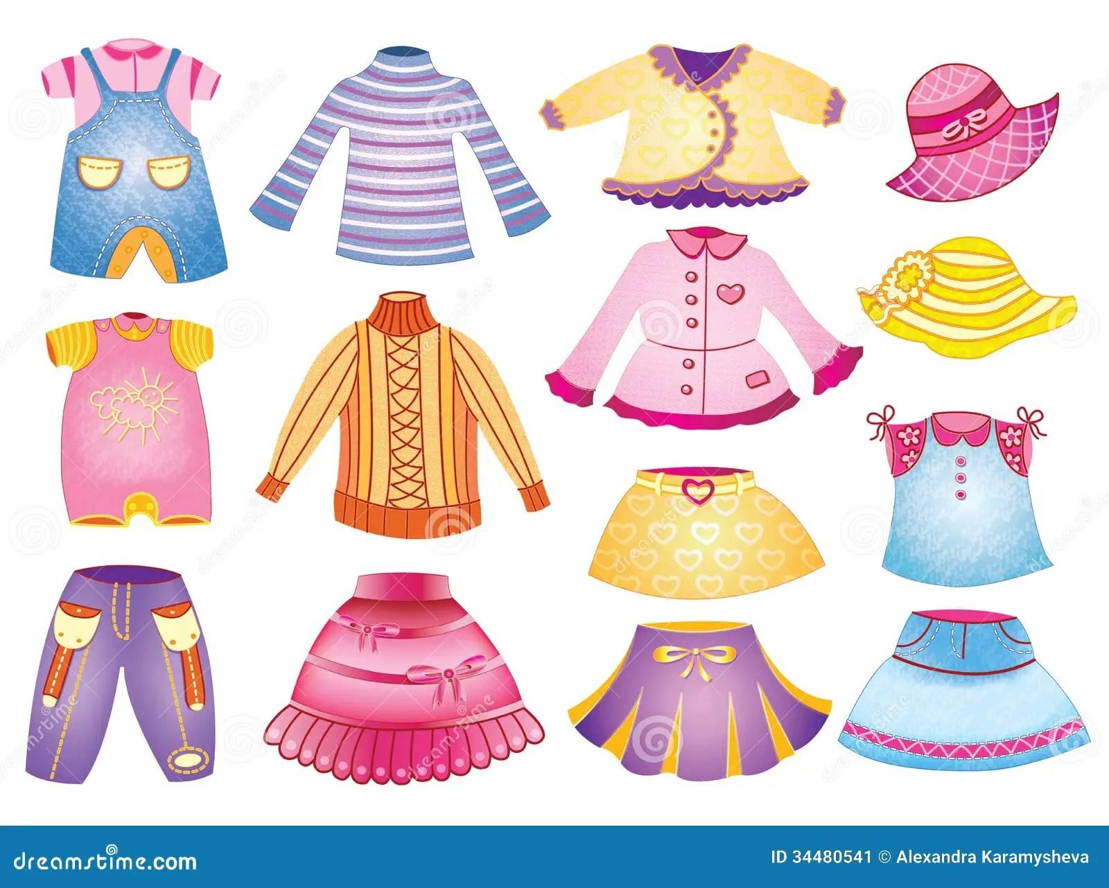 Collection De L Habillement Des Enfants Image Stock