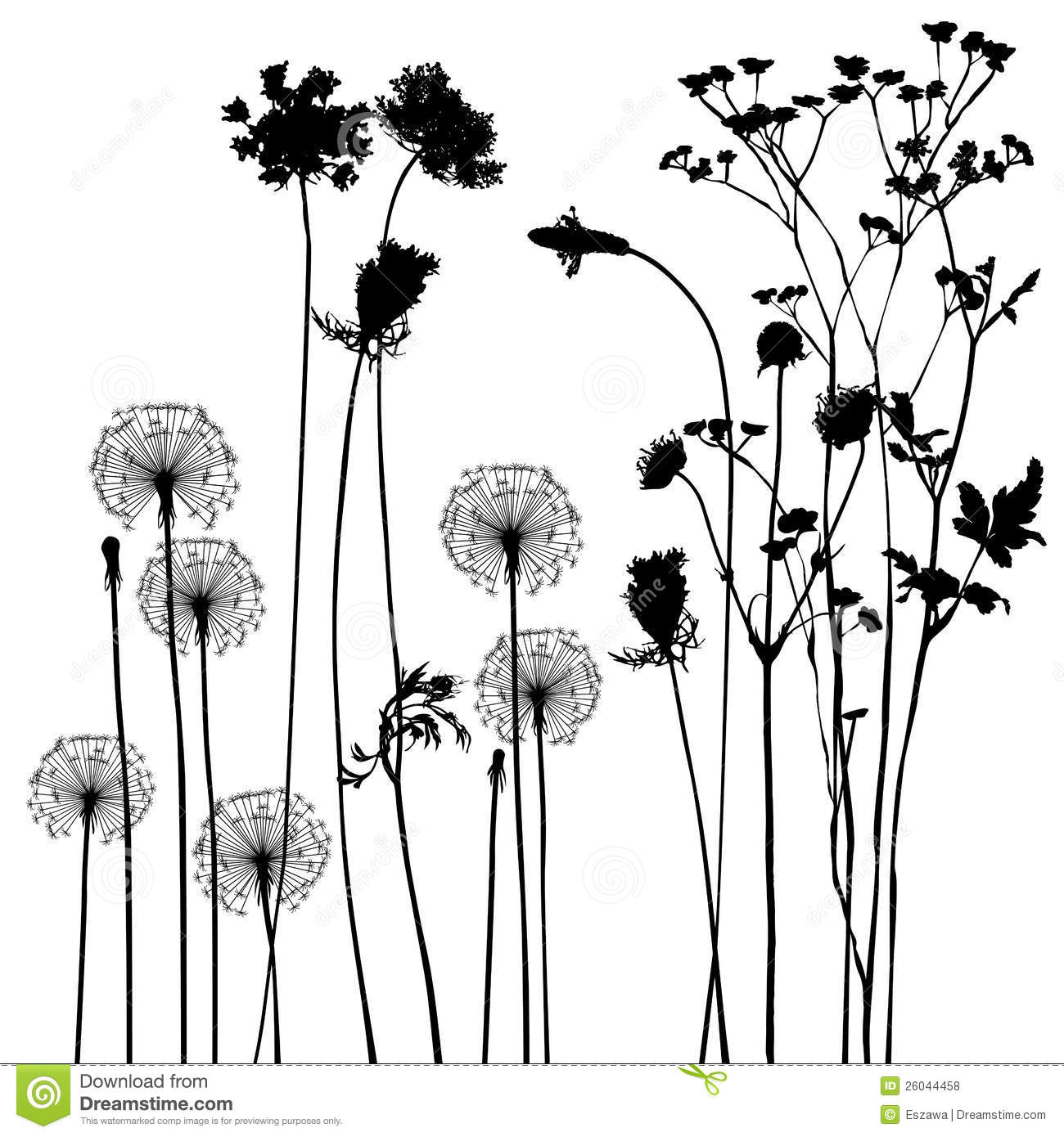 Collection For Designers Plant Vector Stock Vector