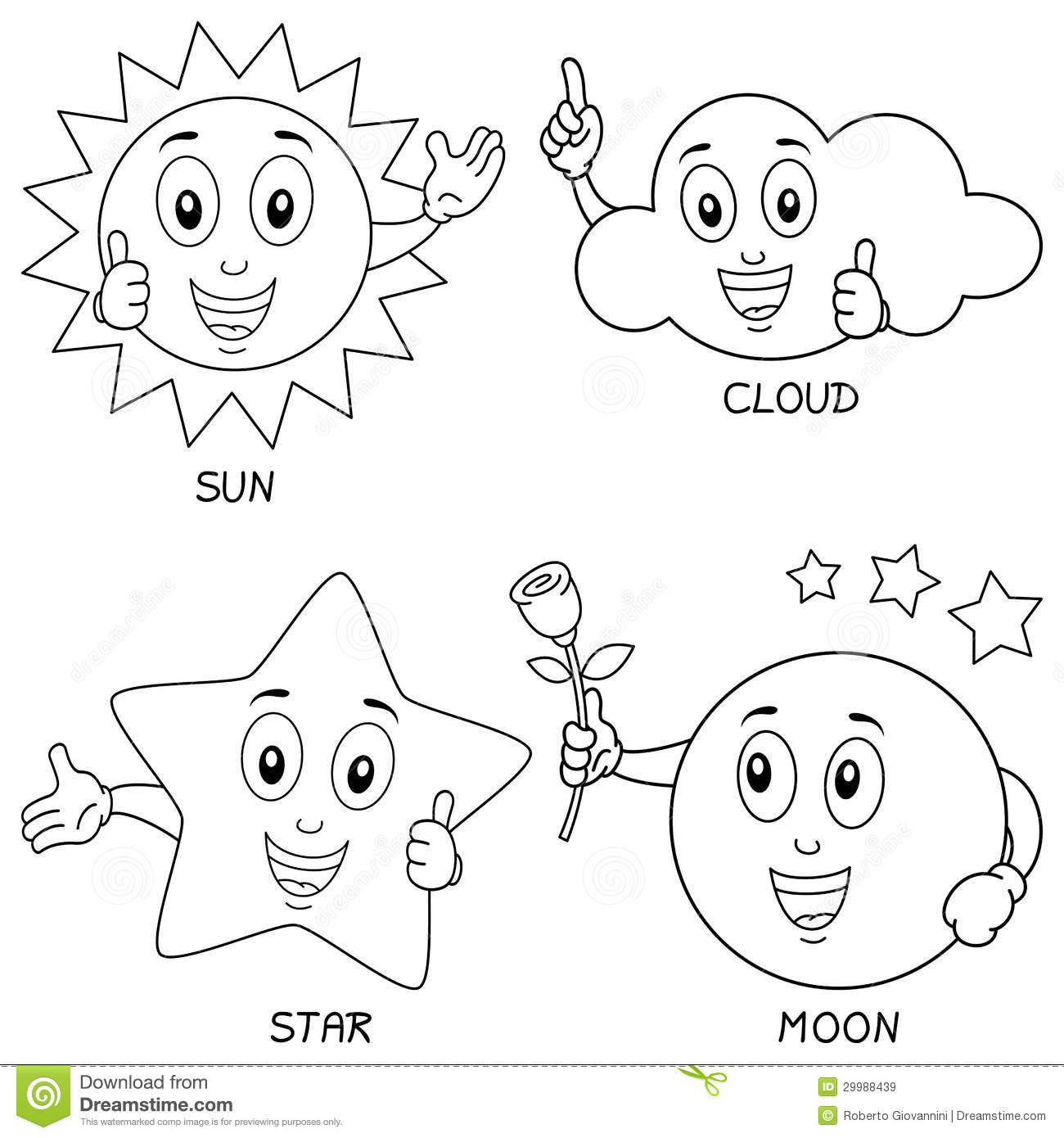 Sun And Moon Worksheet Coloring Pages
