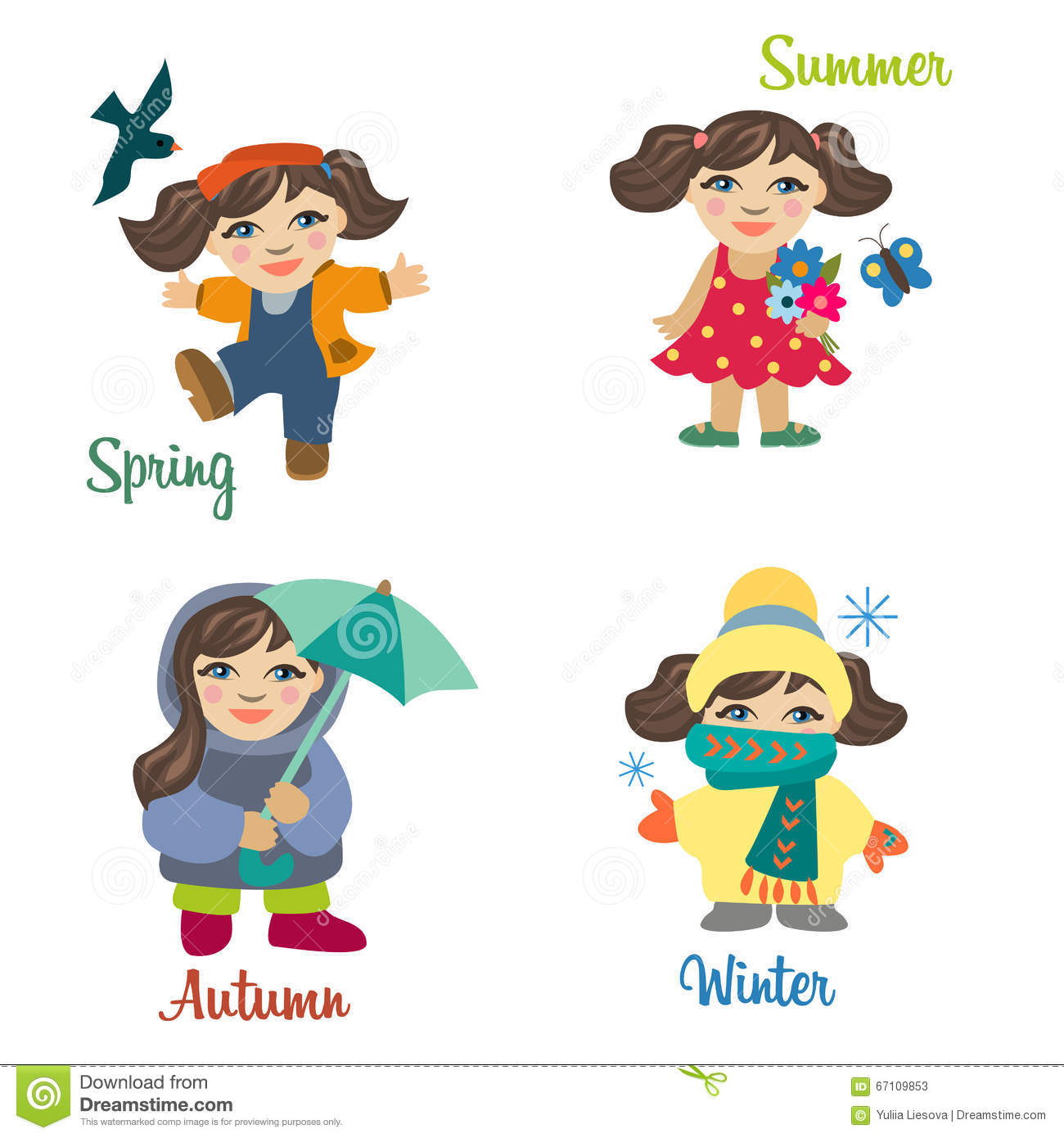 Collection Of Girls Wearing For Different Seasons Of Year