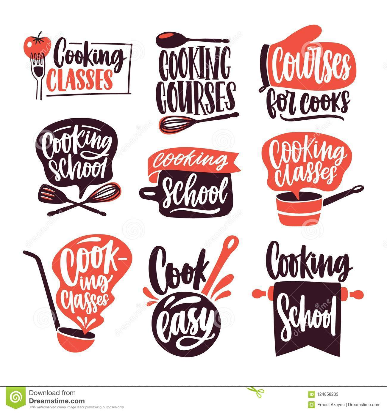 Collection Of Lettering Written With Cursive Font And