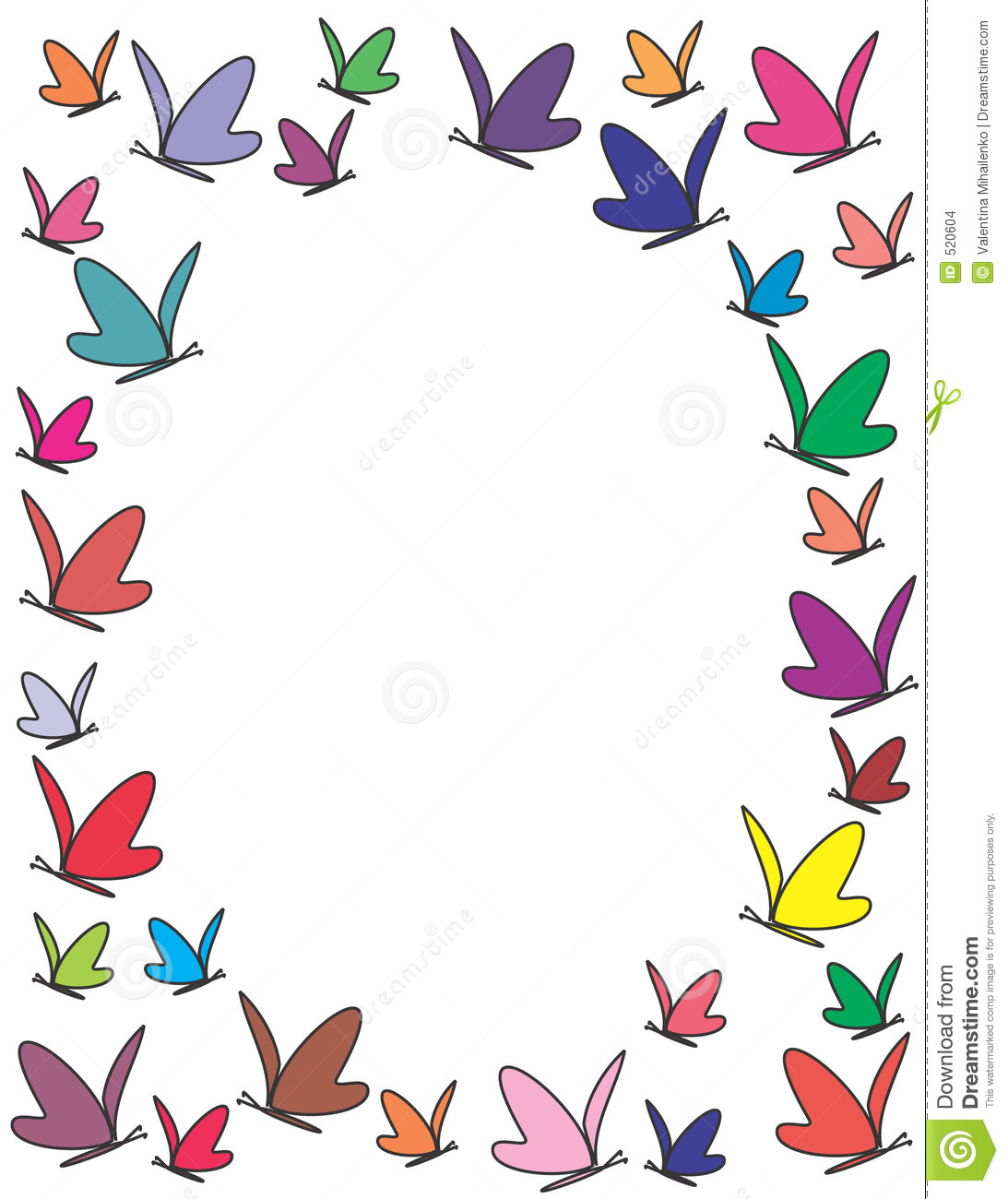 color butterflies frame stock images image 520604