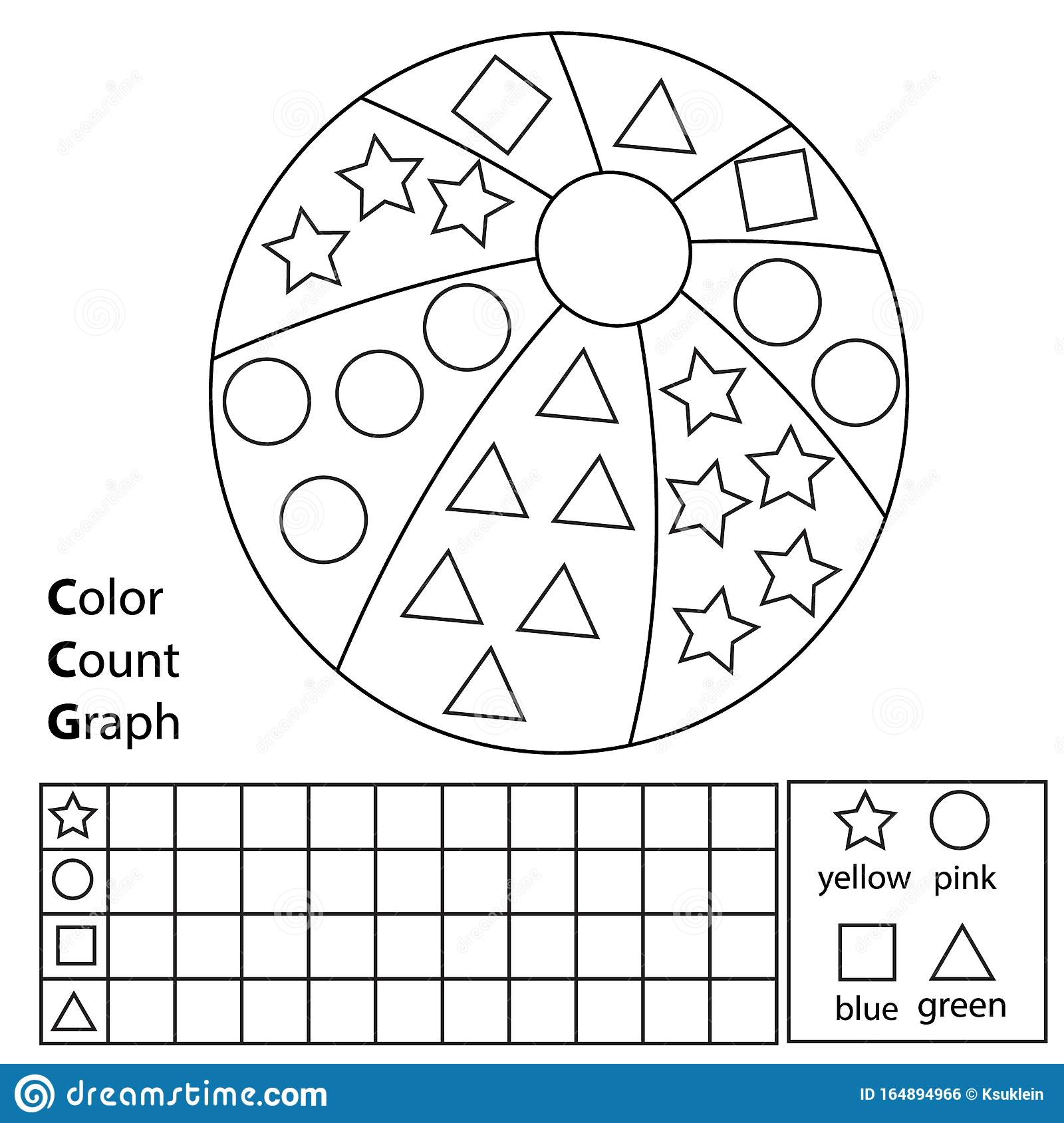 Color Count And Graph Educational Children Game Color