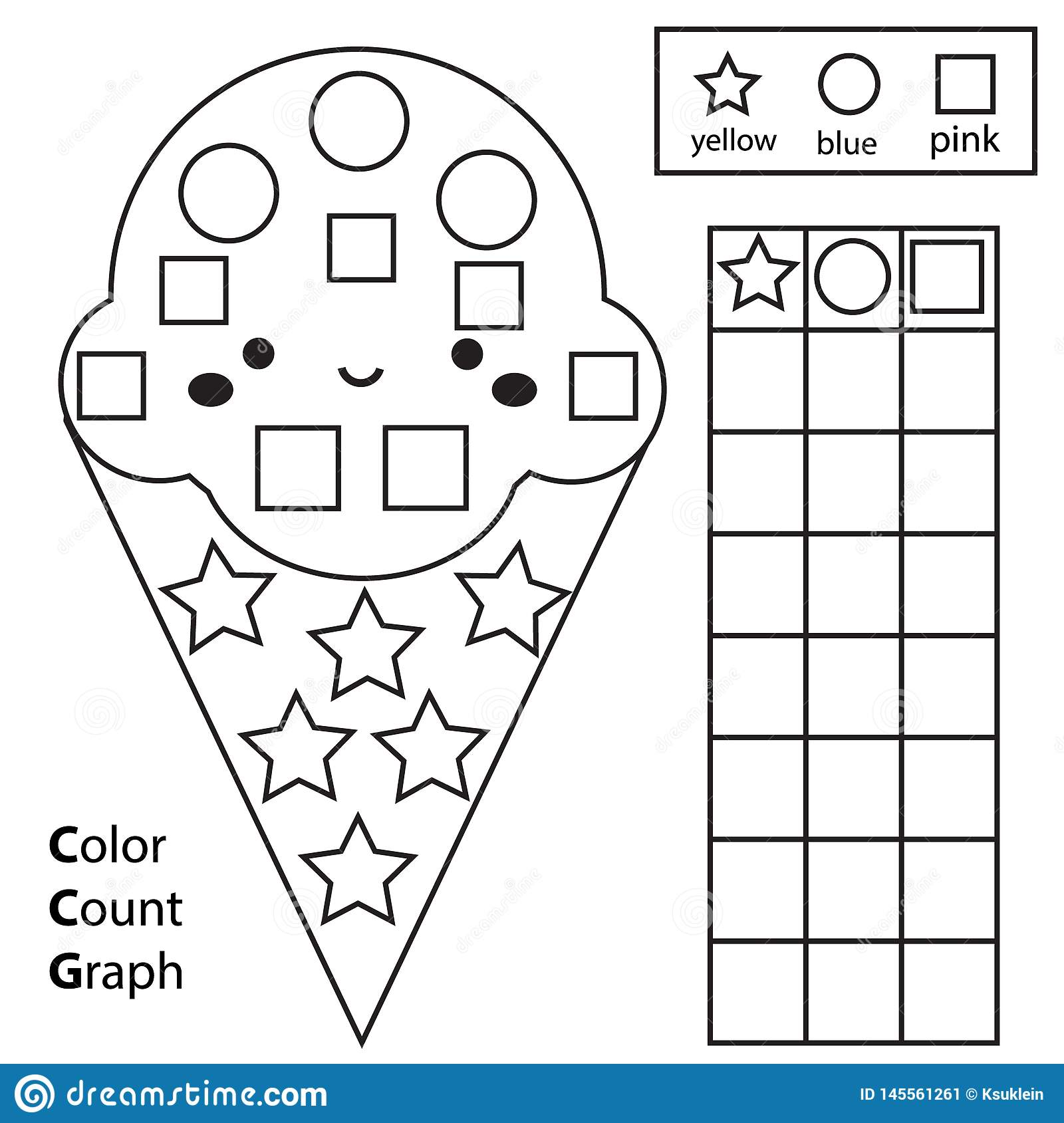 Kindergarten Worksheet Color White