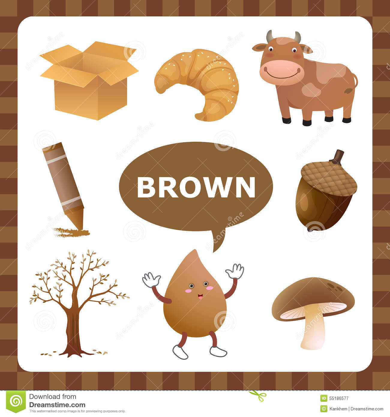 Color De Brown Ilustracion Del Vector