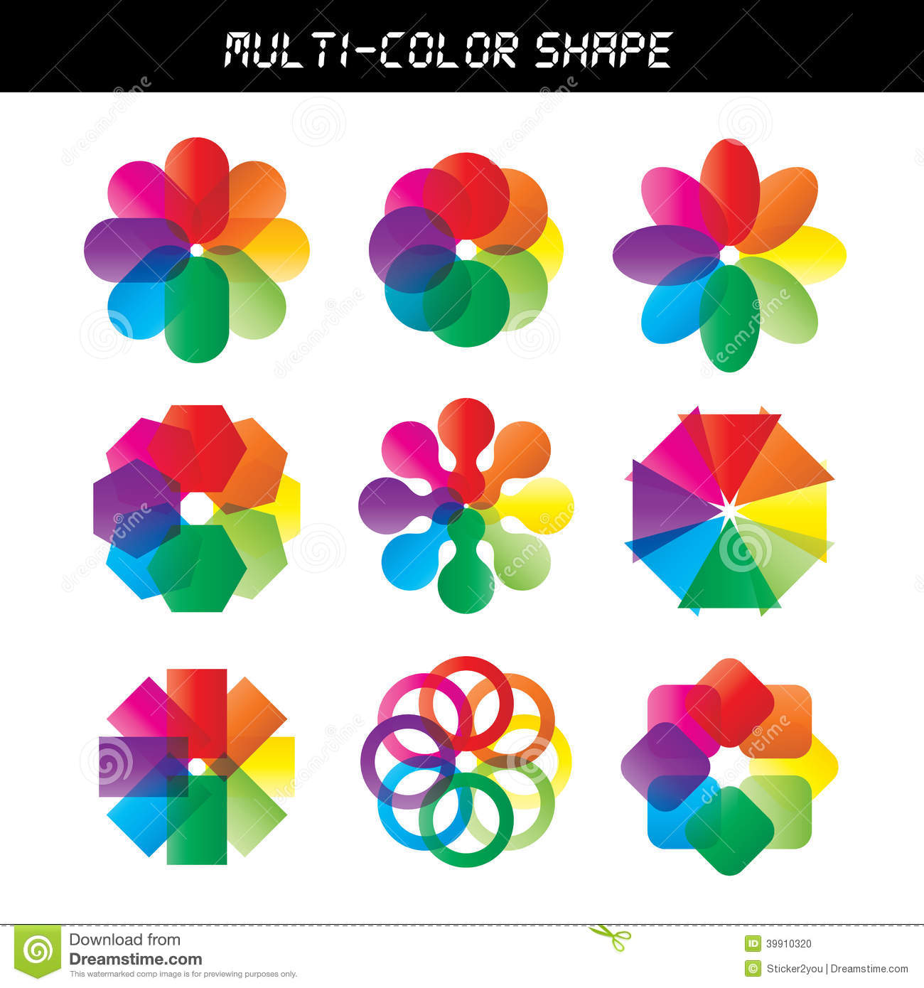 Color Flower Vector Wheel Stock Vector