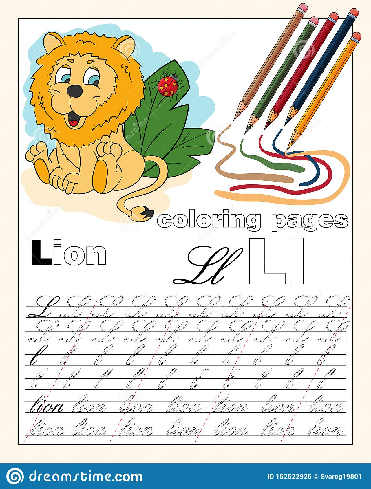 Color 12 Illustration Of The English Alphabet Page With