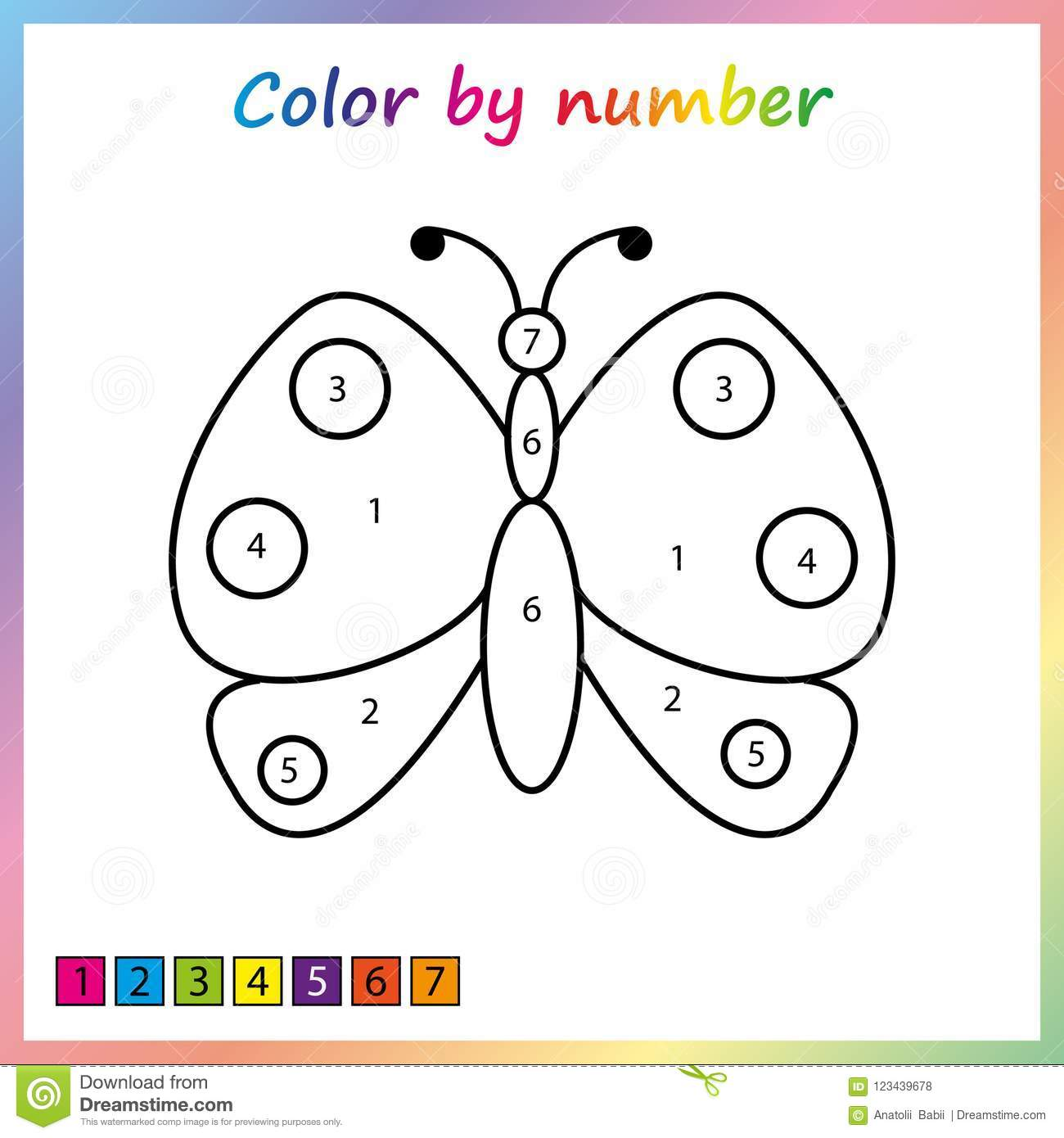 Simple Paint By Numbers Worksheet