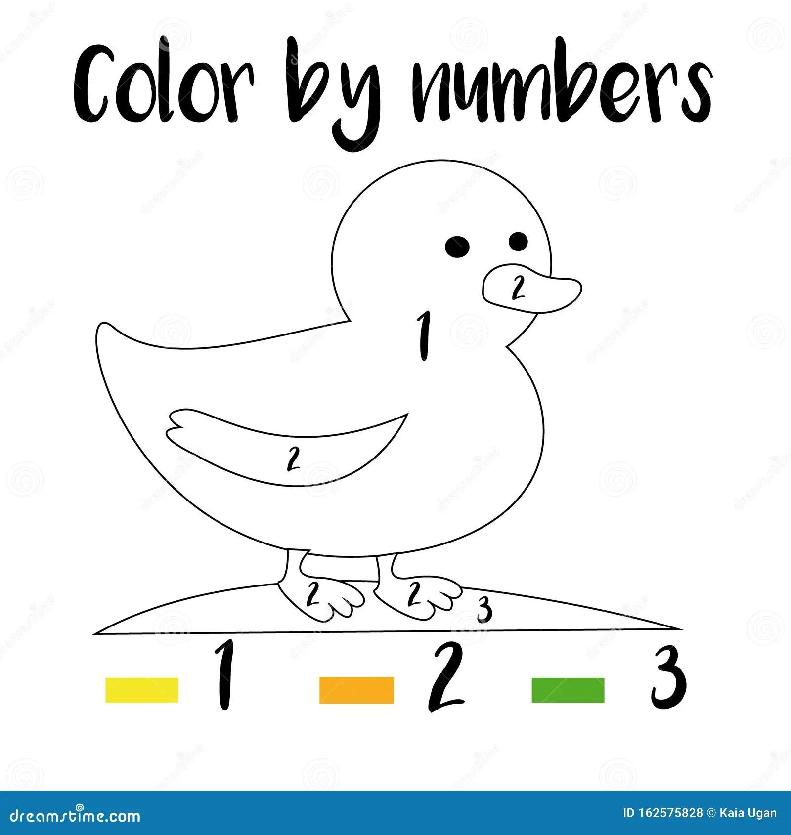 Color By Numbers Printable Worksheet Educational Game