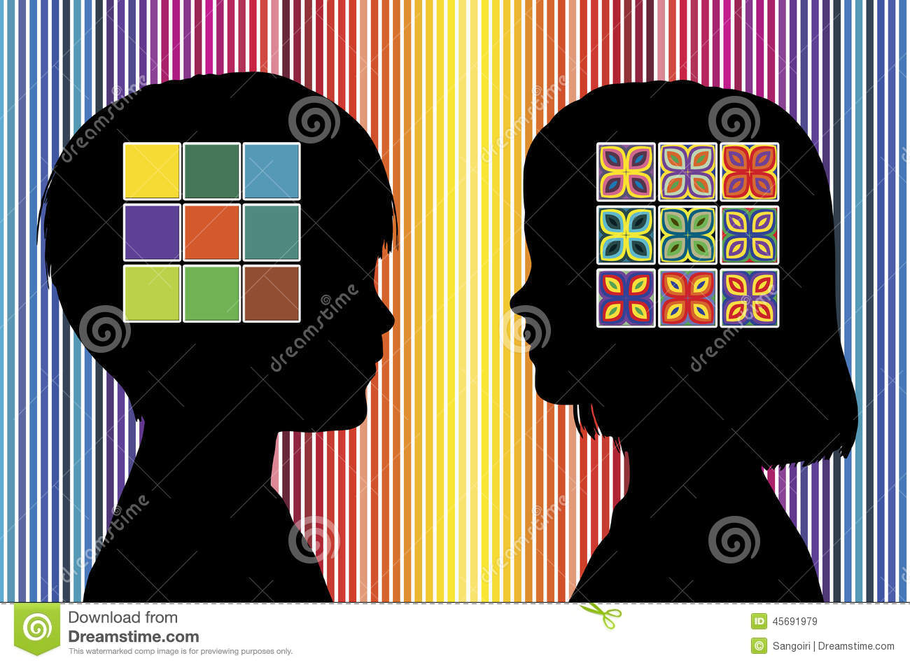 Color Perception Of Children Royalty Free Stock