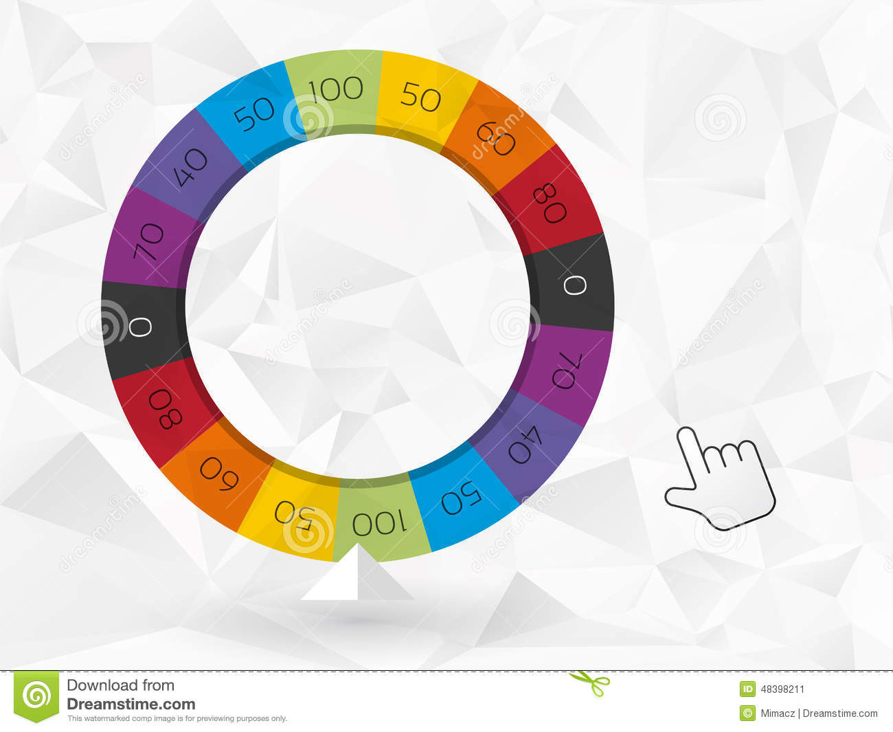 Color Wheel Of Fortune Stock Vector Illustration Of Round