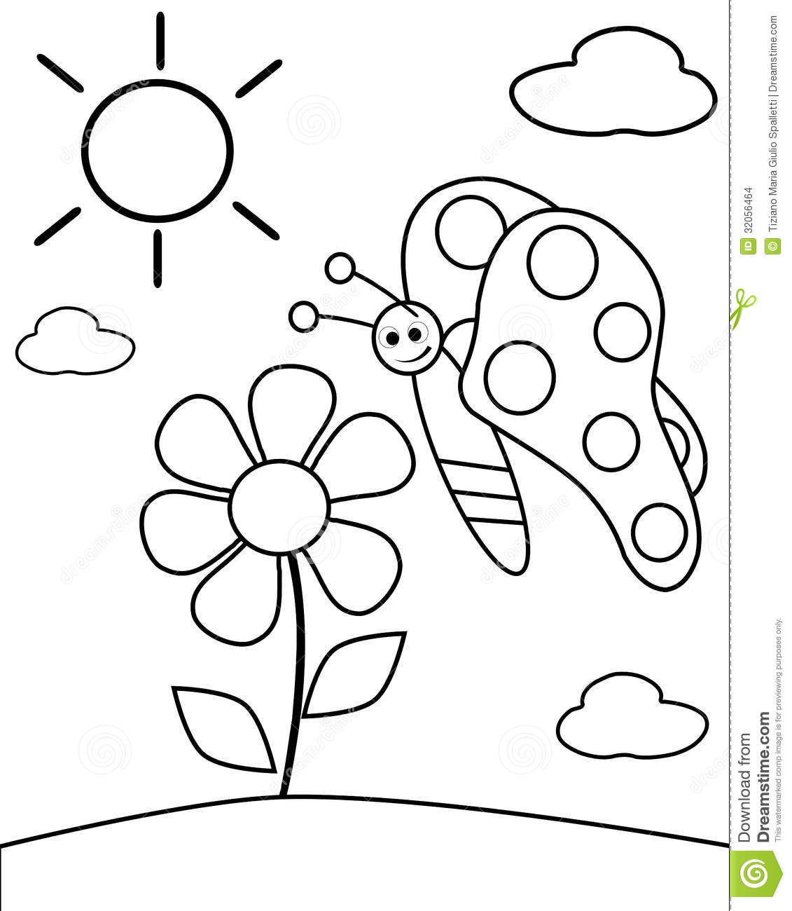 Colorable Butterfly Stock Photo Illustration Of Child