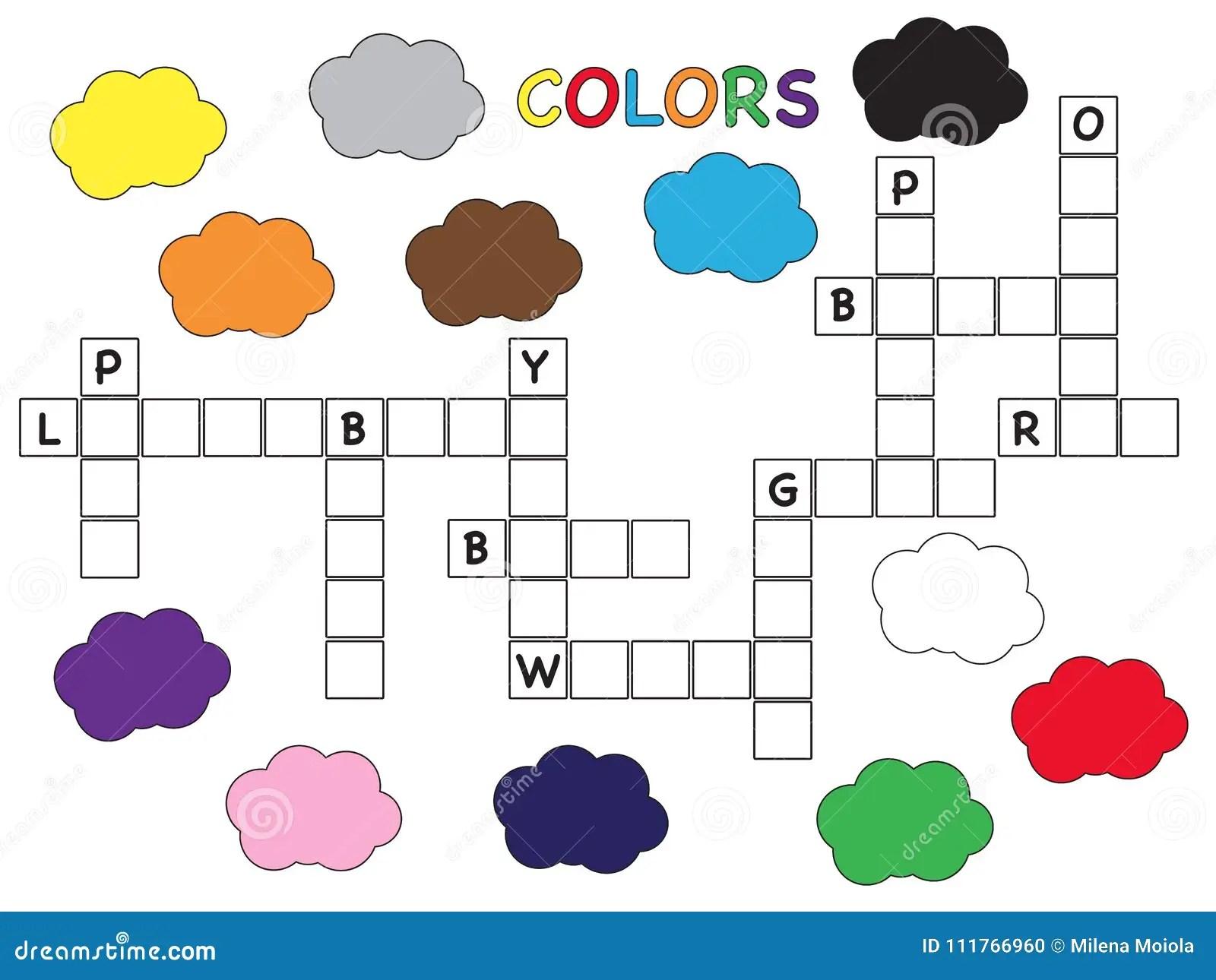 Colore Des Mots Croise Pour Des Enfants Illustration Stock