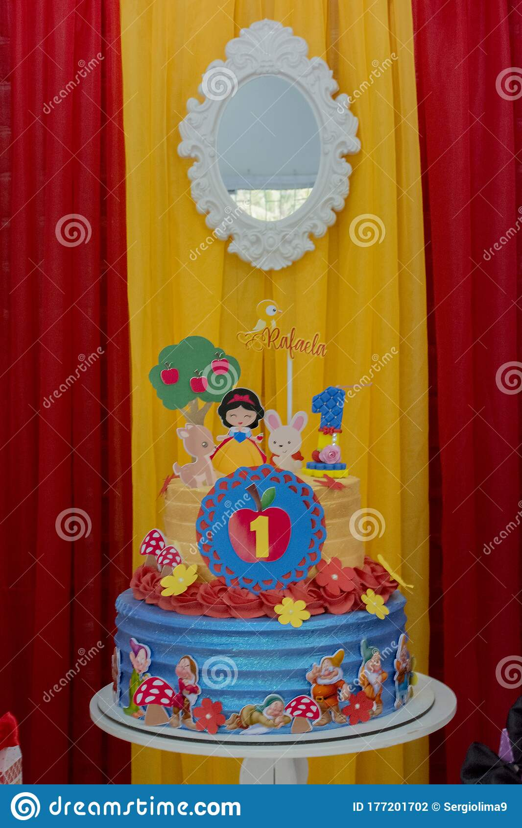Colorful Birthday Party Decoration Theme Of Snow White And The Seven Dwarfs Editorial Photography Image Of Friendship Children 177201702