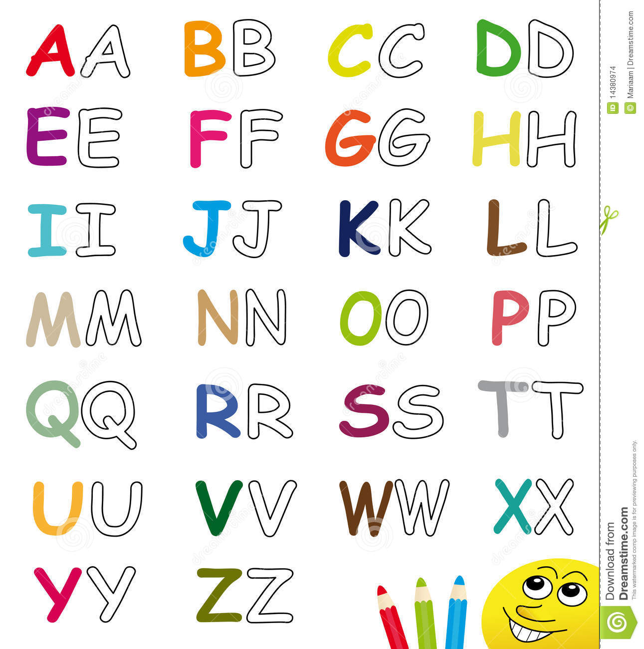 Colorful Amp Blank Alphabet Letters Stock Images