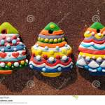 Colorful Christmas Trees Cookies On A Brown Background Christmas Cookies Decorated For Kids Stock Photo Image Of Cookie Christmas 81798592