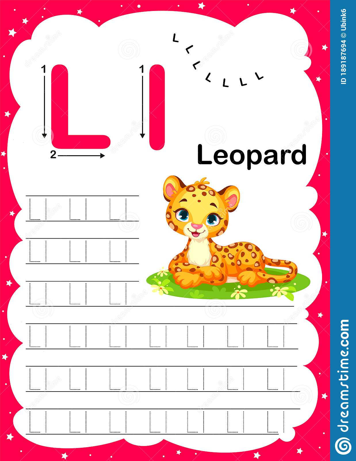 Colorful Letter L Uppercase And Lowercase Alphabet A Z