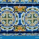 Colorful Pattern Ceramic Tiles Beautiful Design Detail Stock Image Image Of Color Geometric 127810415