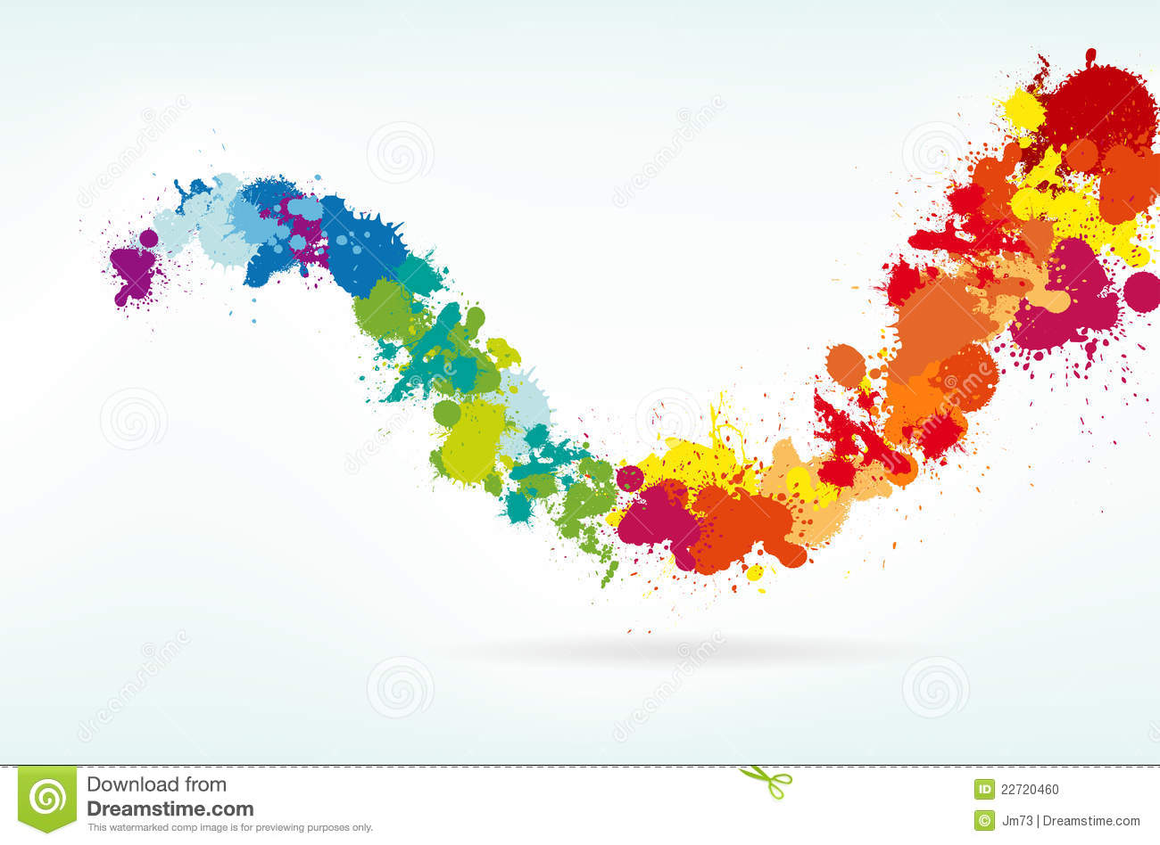 Colorful Splash Background Stock Vector Illustration Of