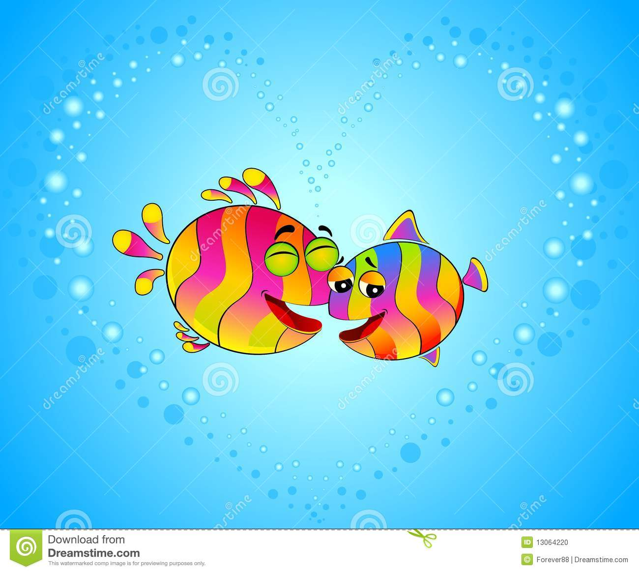 Colorful Tropical Fish In Love Stock Photo Image 13064220
