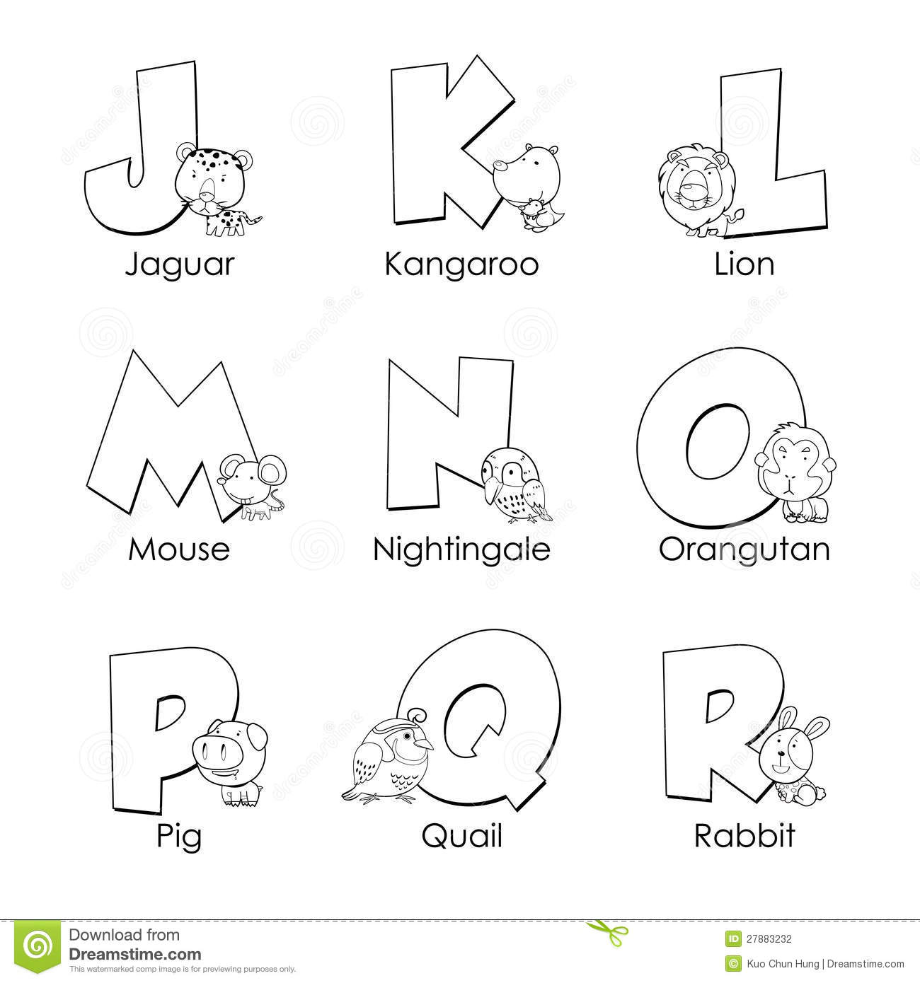 Coloring Alphabet For Kids Stock Photography