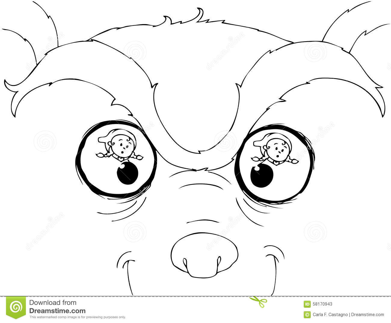 Coloring Bad Wolf Eyes Stock Vector