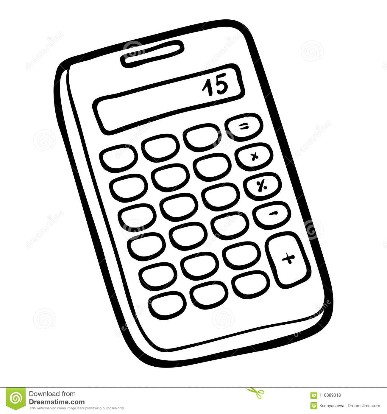 Calculator Page Coloring Pages