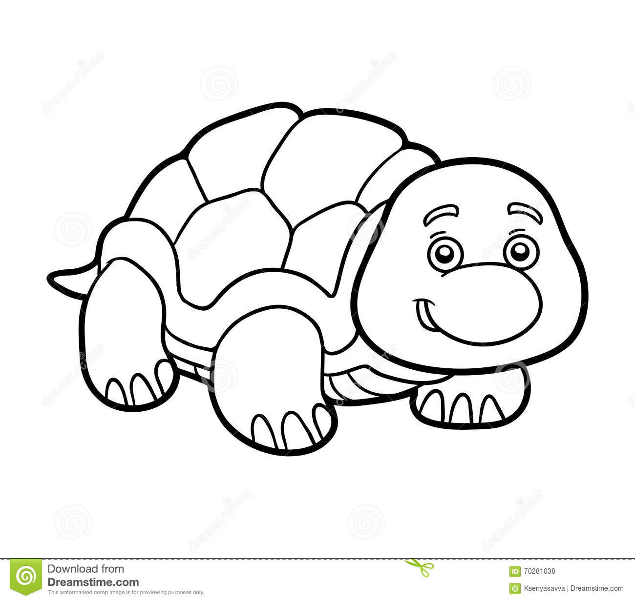 Coloring Book Coloring Page Turtle Stock Vector