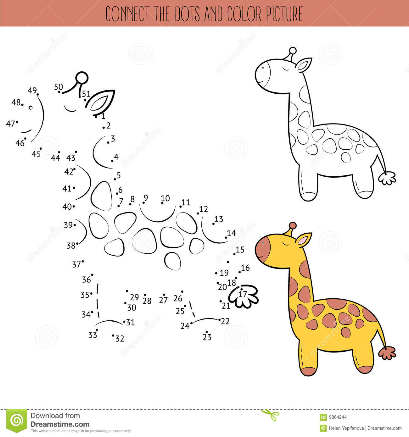 Coloring Book And Dot To Dot Educational Game For Kids
