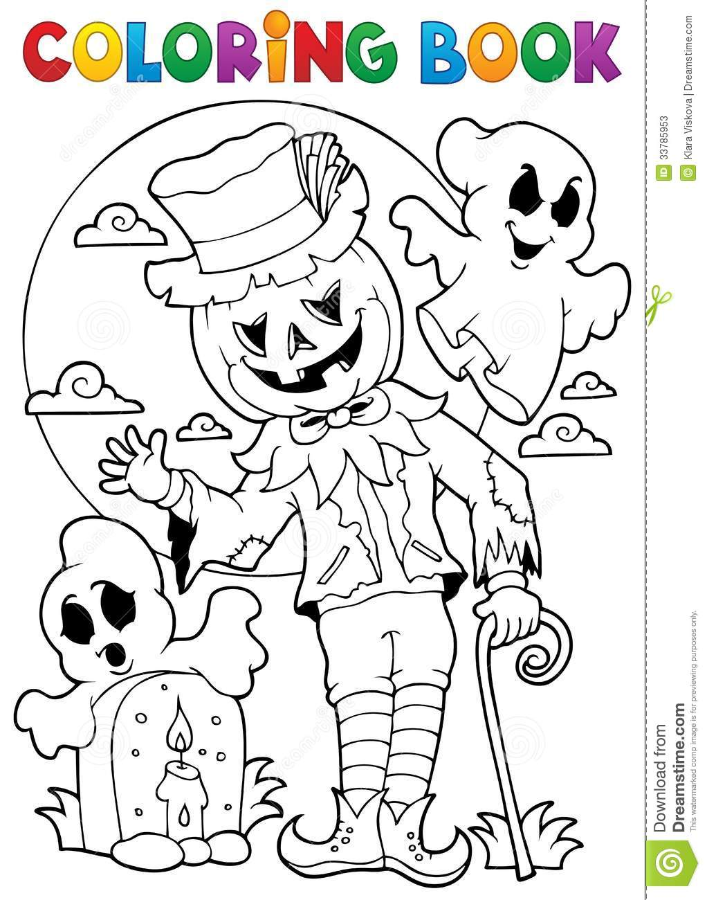 book halloween character 9 stock photos image 33785953 coloring book
